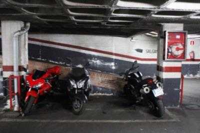 motorcycle parking space for rent at Calle de Pedro Unanue, 1, 28045 Madrid, España